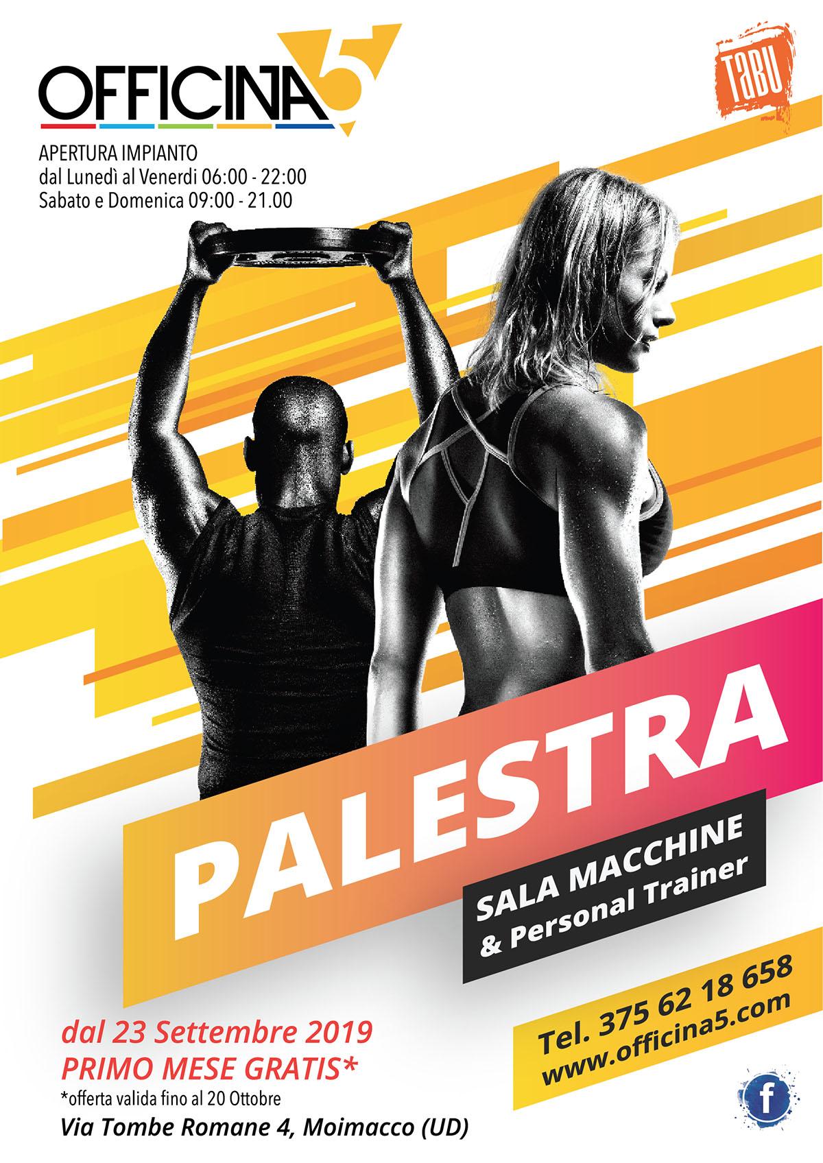 Promozioni 2019 palestra OFFICINA5 a Moimacco Udine