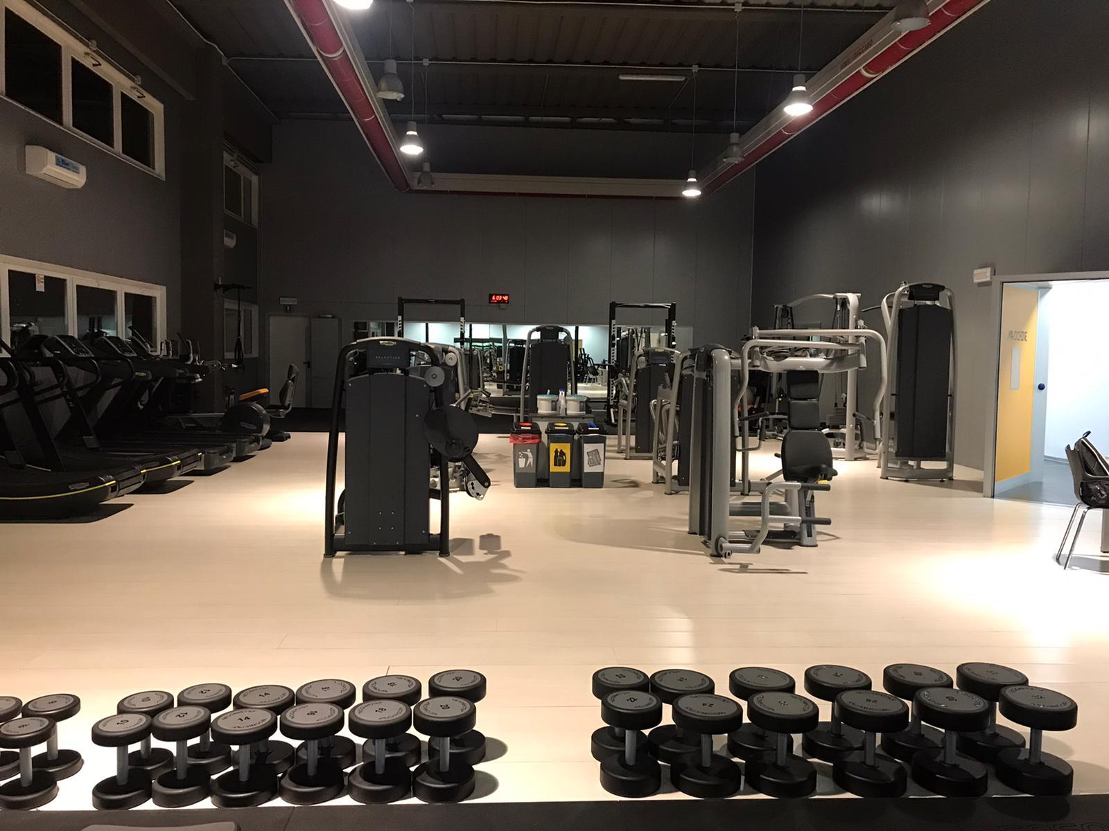 La sala macchine della palestra Officina 5 a Moimacco (Udine)