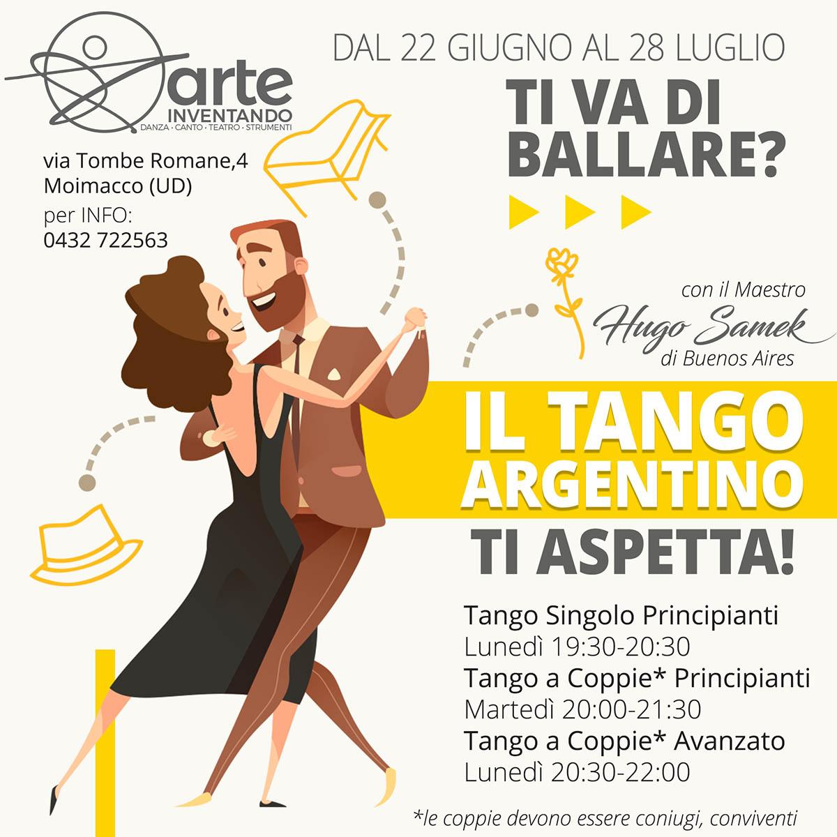 Corso di Tango Argentino Arteinventando - OFFICINA5 Moimacco UDINE