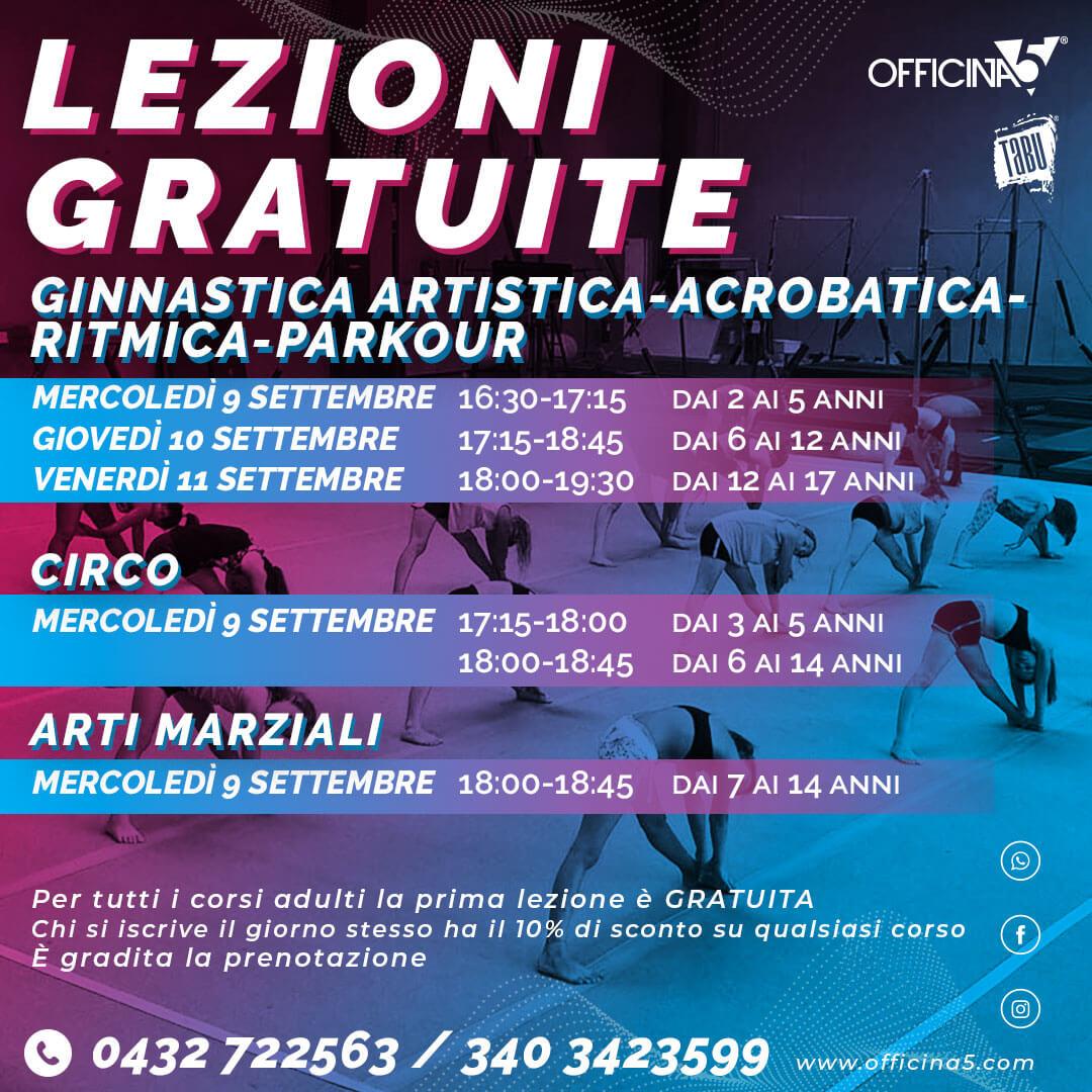 Lezioni gratuite di ginnastica da OFFICINA5 palestra a Moimacco