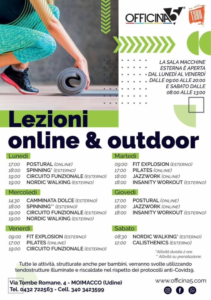 Lezioni online e outdoor OFFICINA5