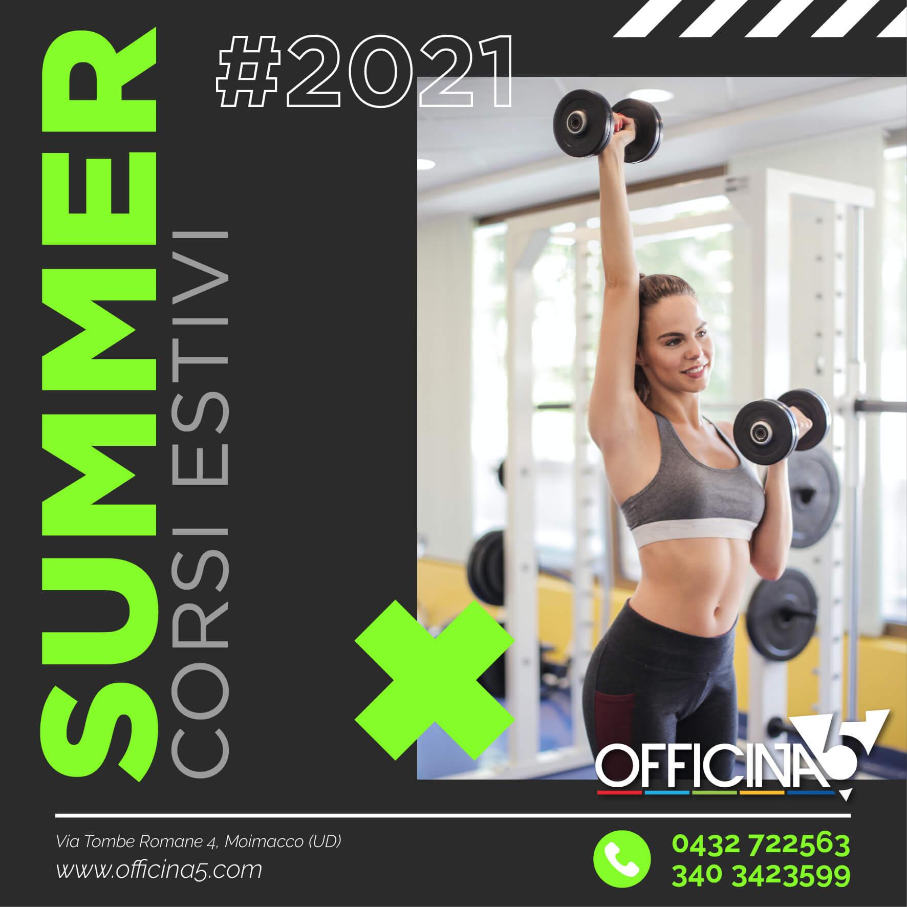 Al via i corsi estivi di ginnastica, arti marziali, fitness e sala macchine di Officina5 la palestra a Udine