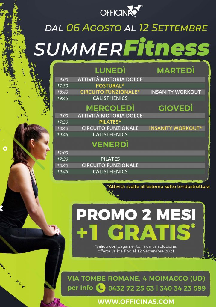 Promo corsi fitness palestra Remanzacco e Cividale
