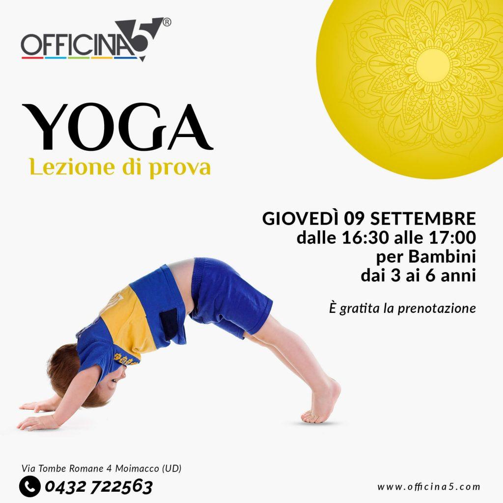Lezioni gratuite di yoga in palestra a Cividale da Officina5