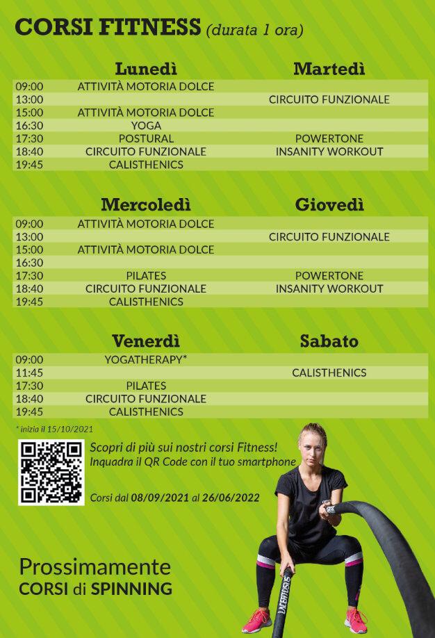 Orari corsi fitness di OFFICINA5 palestra di Moimacco vicino a Pradamano
